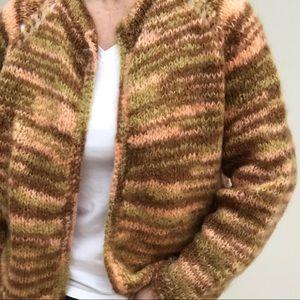 Hand-knit Cardigan M